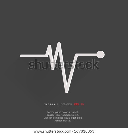 heart beat  cardiogram pulse