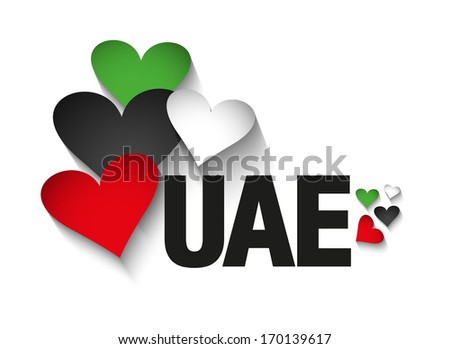 united arab emirates  uae heart