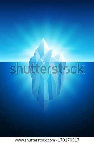 vector illustration of iceberg