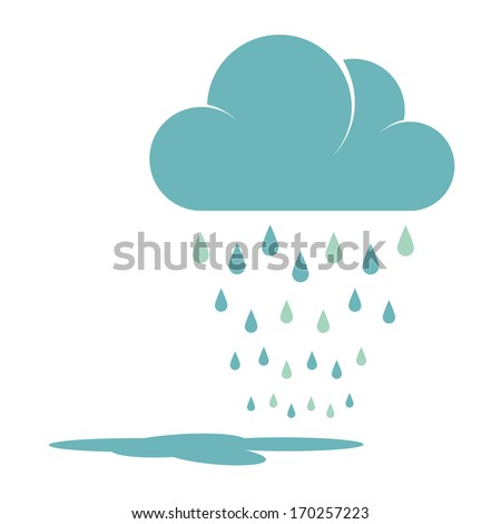 blue rain cloud vector