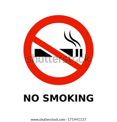no smoking symbol and text on