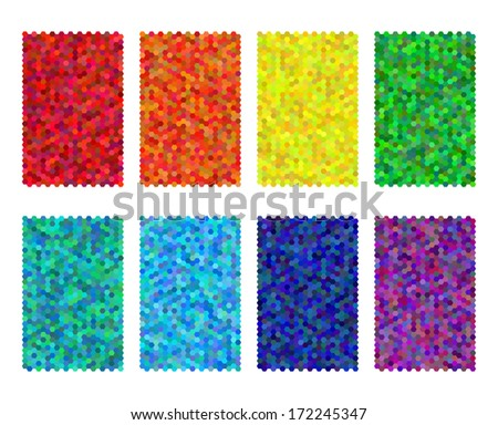 colorful simplistic mosaic and
