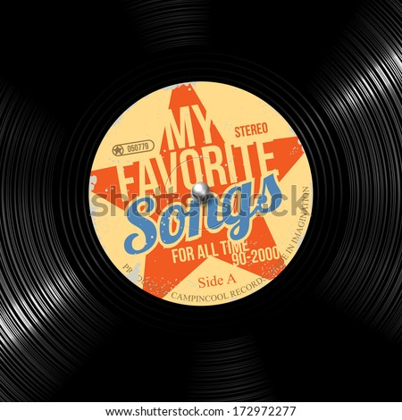 favorite songs  retro vinyl