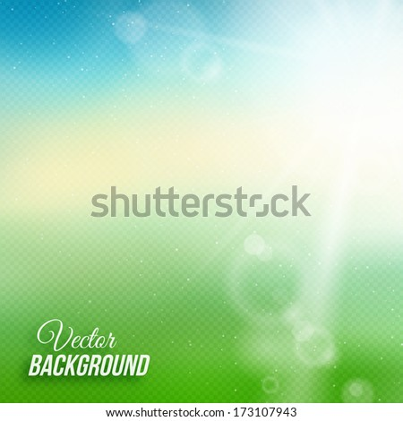blurred summer background with