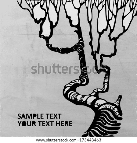 grunge tree vector background
