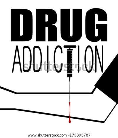 drug addiction graphic design