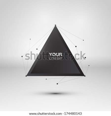 abstract triangle text box