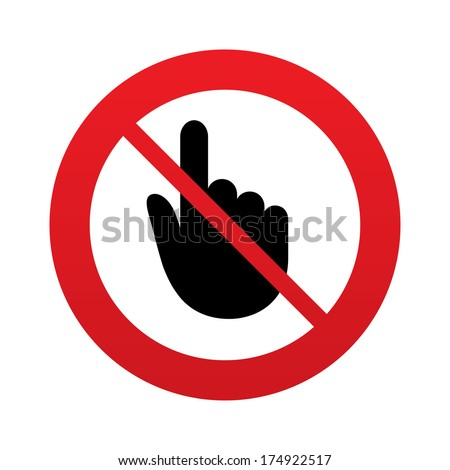 no hand cursor sign icon do