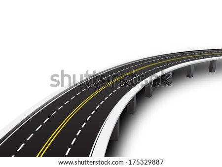 vector illustration of road