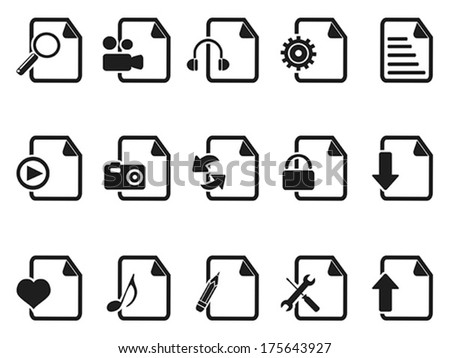 black files and documents icons