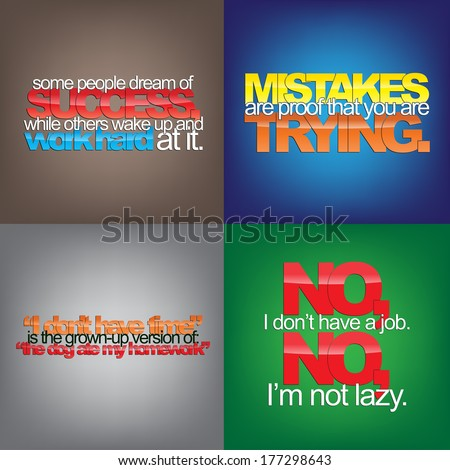 set of typographic backgrounds