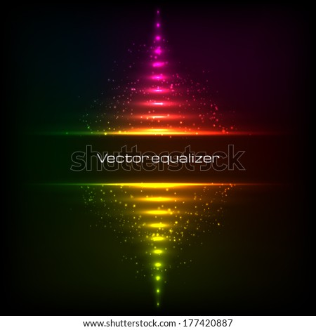 rainbow colors vector vertical