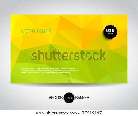 vector yellow green geometric