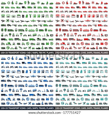 480 transport icons  cars