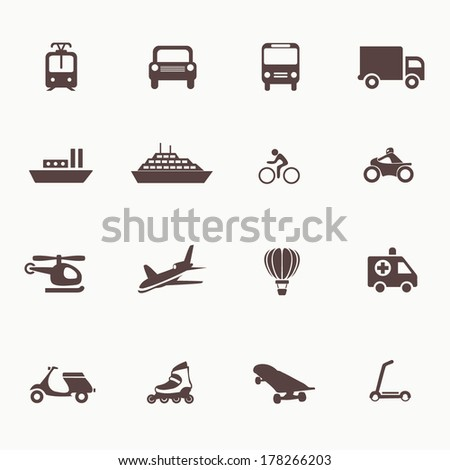 transportation icons design