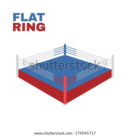boxing ring isolated on white