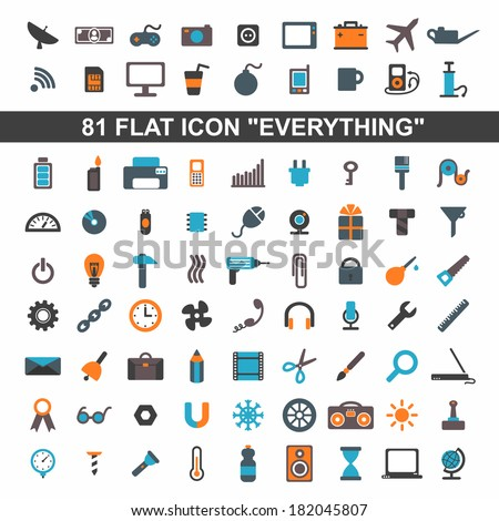 set everything flat icons