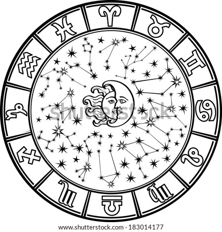 the horoscope circle with