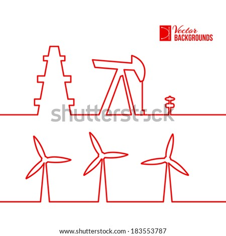 oil pump jack silhouette design