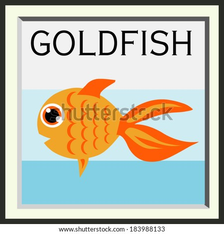 illustration cute goldfish