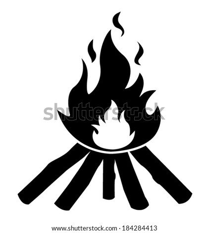 wooden camp fire icon