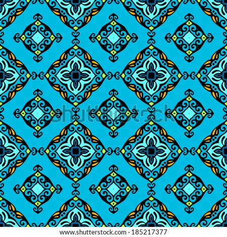 abstract blue vector seamless