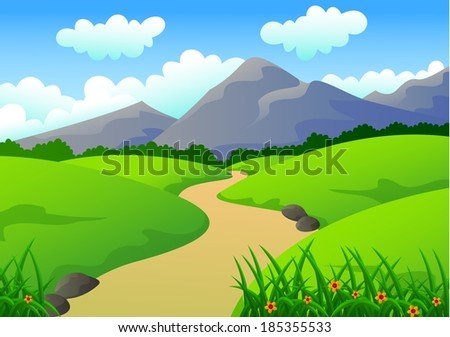beautiful green desert and