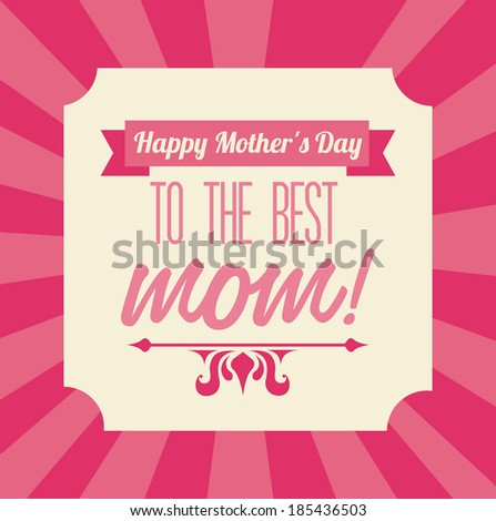 mothers day design over pink