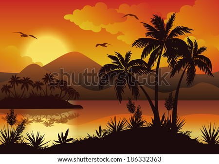 tropical landscape  sea islands
