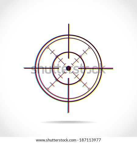 crosshair symbol created of