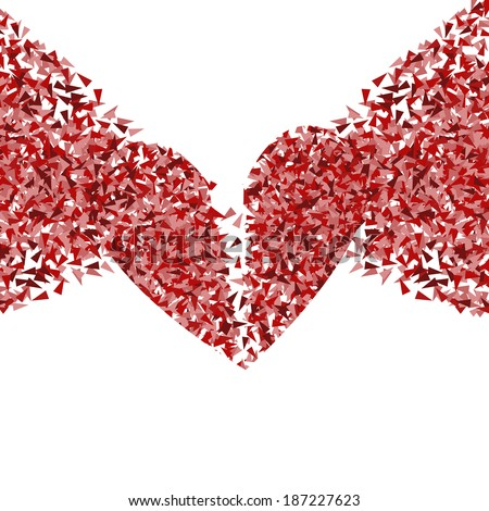 broken heart vector background
