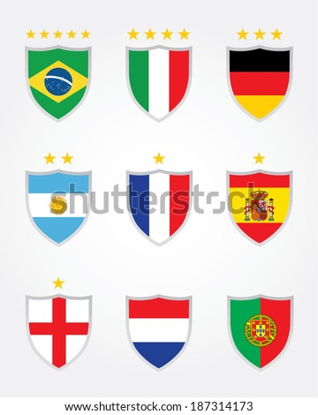 international soccer crest set