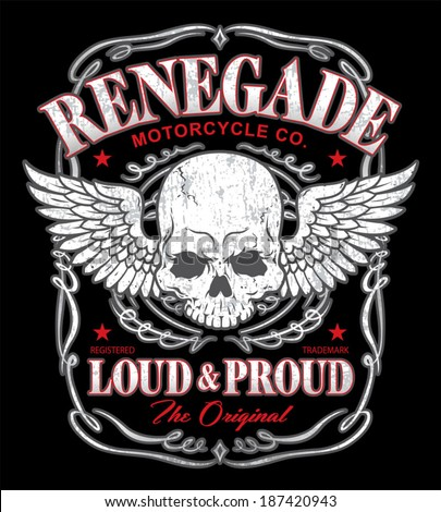 renegade winged skull graphic