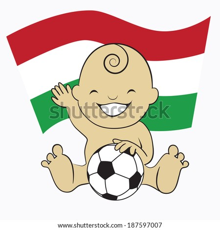 baby soccer boy with hungary