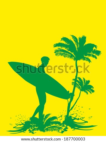 palm long beach vector art