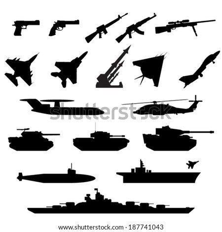 weapons silhouettes