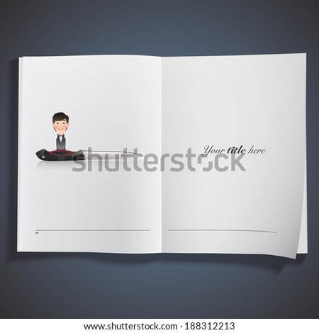 businessman with knife printed