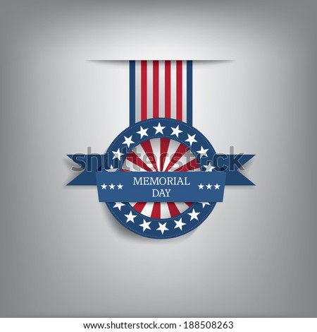 memorial day badge eps10 vector