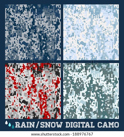 snow   rain   seamless vector