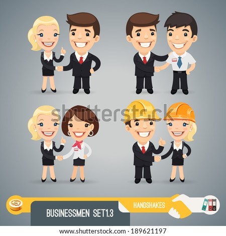 businessmen cartoon characters