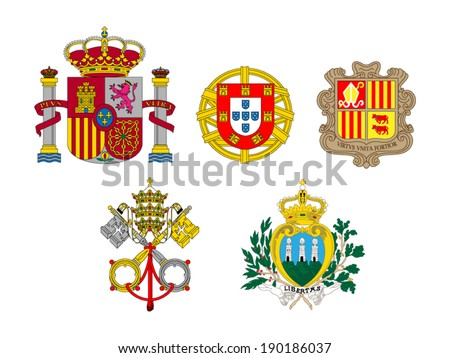 coats of arms of european flags