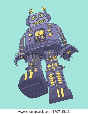 robot soldier  vector