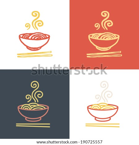 plate full of tasty hot noodles