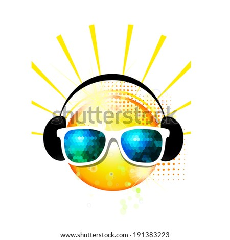 sun sunglasses vector
