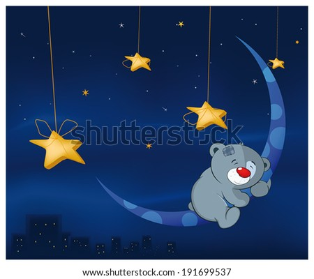 bear cub and the moon cartoon