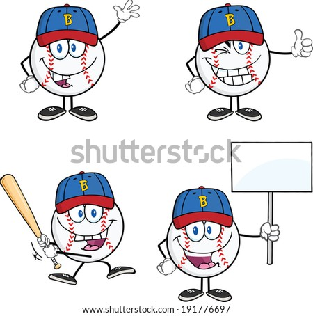 baseball ball cartoon mascot