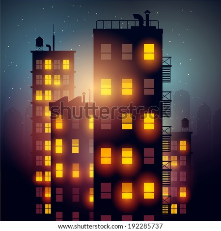 city at night vector