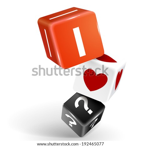 vector 3d dice illustration