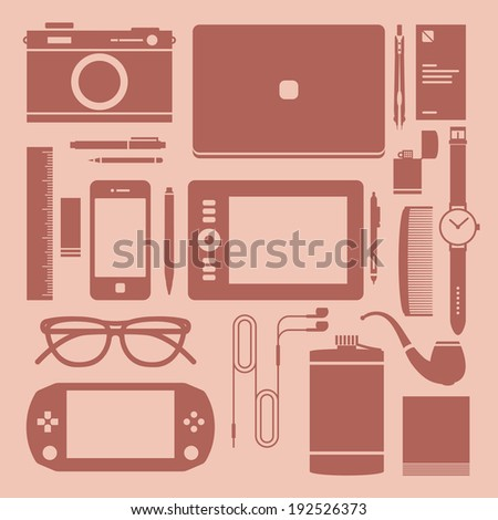 flat icons  design devices and