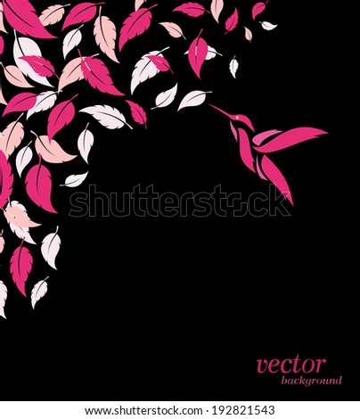 abstract pink leaf and